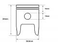 Banshee SHO 50cc water-cooled Mini Moto piston dimensions