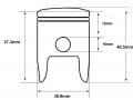 F7 43cc piston dimensions