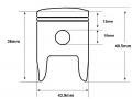F7 49cc 10mm piston dimensions