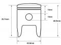 F7 49cc 12mm piston dimensions
