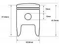 F9 piston dimensions