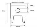 Meerkat MkII piston dimensions