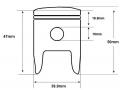 PY50 piston dimensions