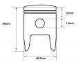 PY90 piston dimensions