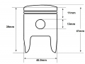 ZRF70 piston dimensions