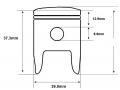 Zinger 50 piston dimensions