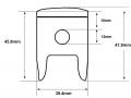 Zinger 50LC piston dimensions