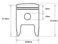Zinger 50RR piston dimensions